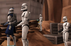 Ember and troops monitor situation from outpost