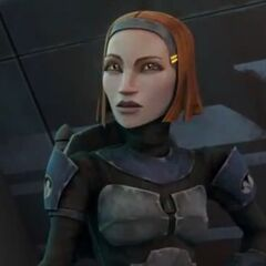 Bo-Katan questions Malek on why he had so much hate for Pre Vizsla and the Death Watch.
