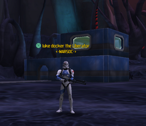 Luke Docker in medic gear