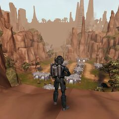 Malek observers the primary stages of the Battle of Ryloth