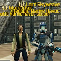 Luke Docker and Lord Skyweave