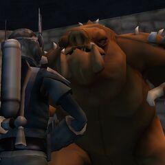 Malek prepares to fight the Rancor.