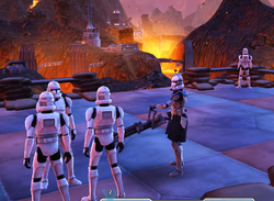 Torrent and troopers on Mustafar