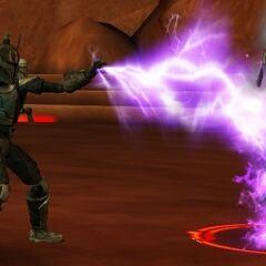 Malek duels his second clone, Necros, on Dathomir.