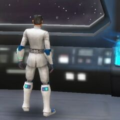 Griff aboard his cruiser before his mission