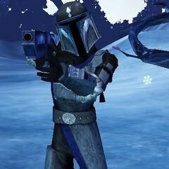 Malek's fifth Mandalorian armor, and personal Cold Warrior armor, which he first used while on Carlac in 20 BBY.