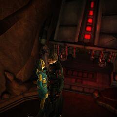 Kalin & Ayanna Thalis on top of the Collossal Sith Pyramid on Dathomir.