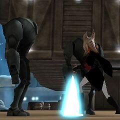 Zadira fighting droids on Aargonar