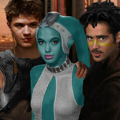 Kalin Thalis, Alluria Starfire and Qurhon Vos as in their padawan training. (Picture made by <a  class=