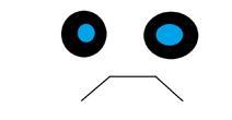 Unhappy face.