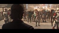 Protestors at Jedi Temple