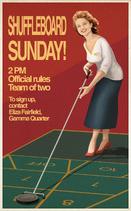 Shuffleboard Sunday! Poster