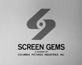Screen gems television 1972 black and white
