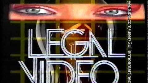 Logo VHS (Version antigua) Legal Vídeo (Ojos y Explosiones) (Gativideo, 1988)