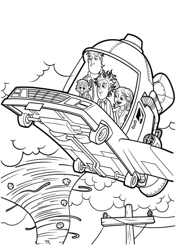 Image - Cloudy with a Chance of Meatballs Flying Car 2 Coloring Page ...