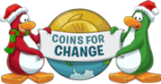 Nuevo logo coins for change