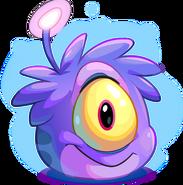 Puffle alien morado