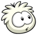 White Puffle Pin icon