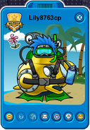 Lily8763cp Player Card - Late February 2019 - Club Penguin Rewritten