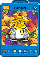Rainbert Player Card - Mid April 2019 - Club Penguin Rewritten