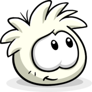 White Puffle Slight Smile