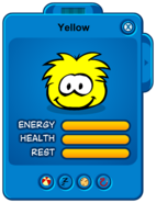 Yellow Puffle Card