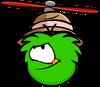 Bowler Propeller Green Puffle