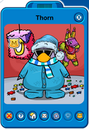 Thorn Player Card - Late January 2019 - Club Penguin Rewritten