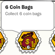 6 coin bags stamp book