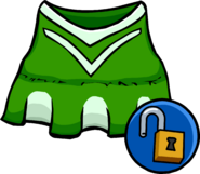 Green Cheerleader Outfit Unlockable