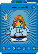 Lovebacon56 Player Card - Early March 2020 - Club Penguin Rewritten