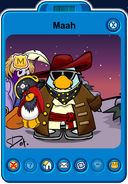 Maah Playercard - Late March 2020 - Club Penguin Rewritten