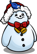 Santa Hat Snowman sprite 008