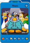 Thorn Player Card - Mid June 2019 - Club Penguin Rewritten