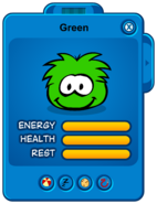 Green Puffle Card