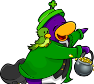 Club Penguin Times St. Patricks Penguin 2