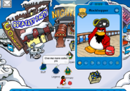 Rockhopper during Beta Test Party - Club Penguin Rewritten
