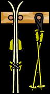 Ski Rack Yellow