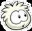White Puffle Pin