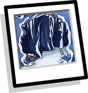 Ice Cave Background Icon