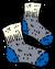 Blue Wool Socks
