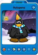 Halopona Player Card - Early December 2019 - Club Penguin Rewritten