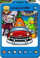 Candycorn900 Player Card - Mid December 2019 - Club Penguin Rewritten