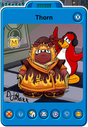 Thorn Player Card - Early November 2019 - Club Penguin Rewritten