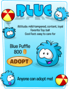 Blue Puffle Adopt Catalog