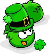 Green Puffle Patty's Hat