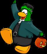 Halloween Party 2018 Postcard Penguin