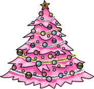 Pink Holiday Tree sprite 003