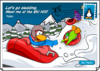 Ski Hill Postcard