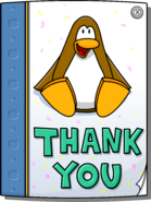Card From Dancing Penguin full award front